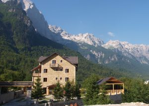 Het superfijne hotel Margjeka in Valbona.