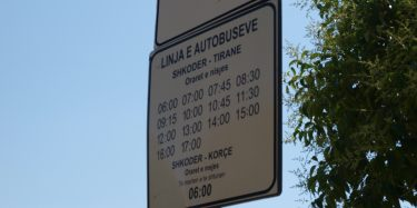 Timetable shkoder-Tirane