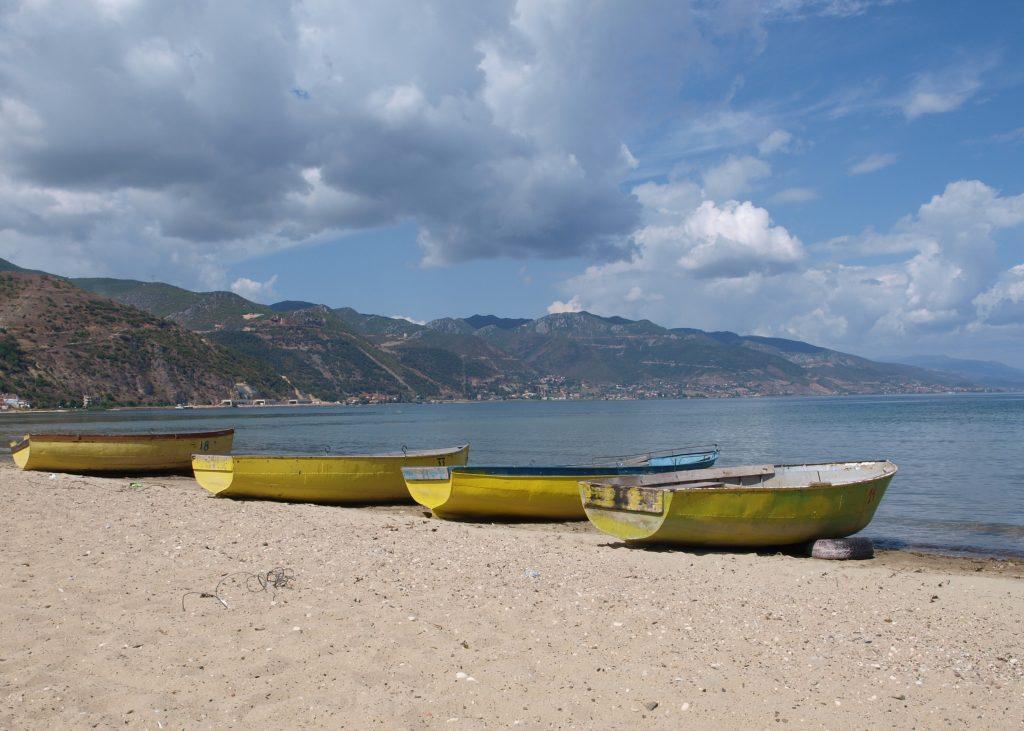 Pogradec, meer van Ohrid